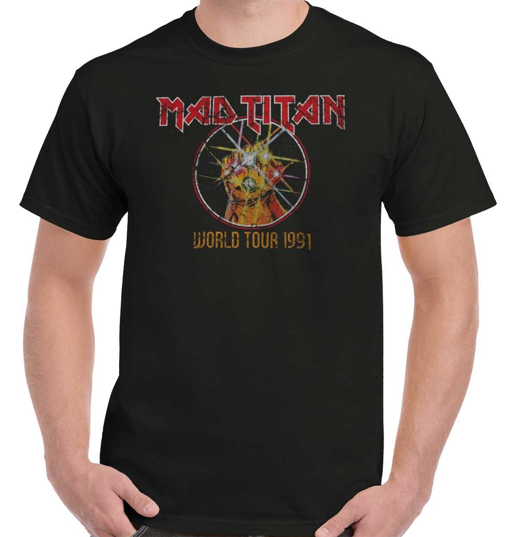 Mad Titan World Tour Thanos Infinity Comic War Gauntlet Hero T-Shirt