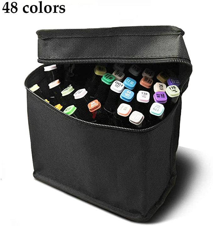 Hbwz - Juego de 48 rotuladores de Colores con Punta Doble para Pintar y Resaltar la 5ª generación: Amazon.es: Hogar
