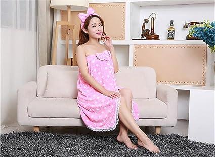 MIWANG Puede usar toallas de algodón lindo femeninos, hermosos Stomacher envuelto Correa de pecho falda