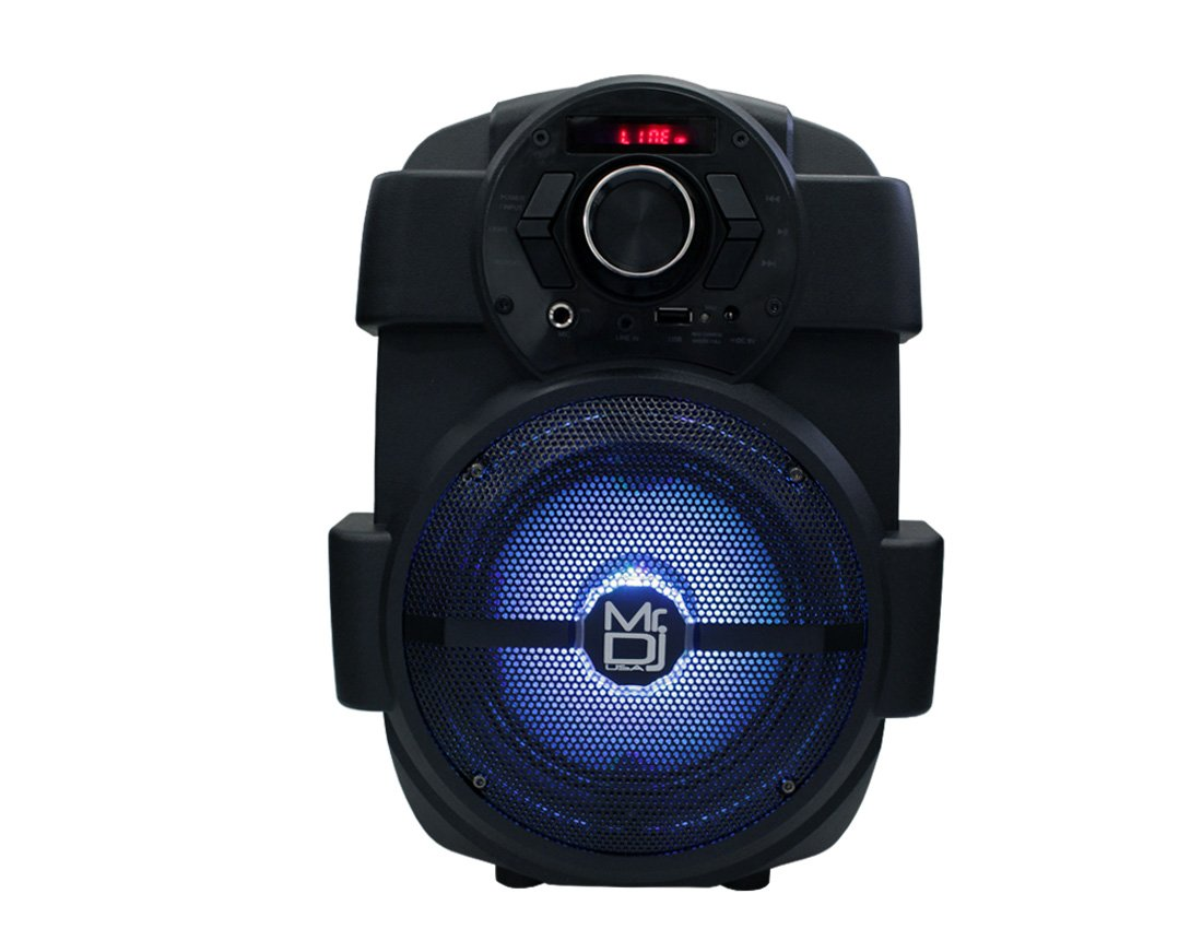 Mr. Dj PSE65BT 6.5'' Portable Active Speaker with Rechargeable Battery 1000W P.M.P.O, 1''