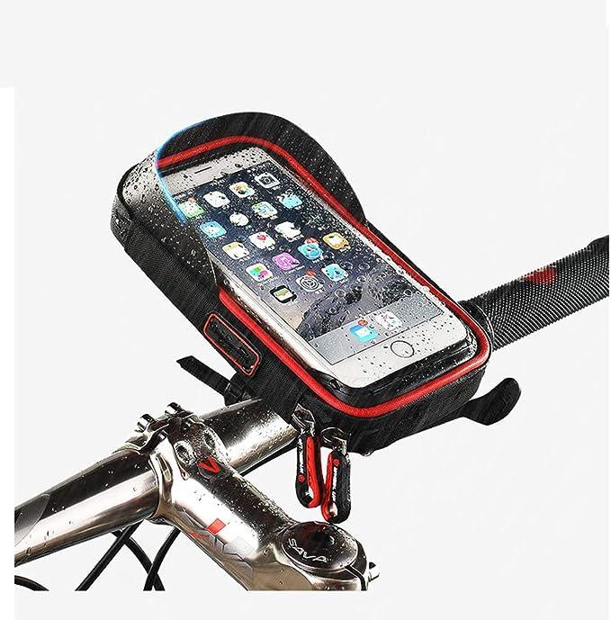 4 in 1 wasserdichtes Fahrradlicht mit Fahrradhupe CHPH Telefonhalter