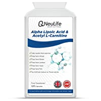 Alpha Lipoic Acid 100mg & Acetyl L Carnitine 400mg x 120 Capsules | Aids Results from Workouts and Exercise | Neulife Health & Fitness Supplements
