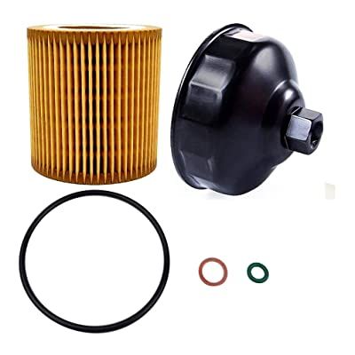 Ibetter Metal-Free HU816 Oil Filter and 86.4mm 16 Flutes Oil Filter Wrench for BMW with HU816 Oil Filter, Oil Filter Housing Cap Removal Tool for Oil Change, Oil Filter Socket Wrench Kit for BMW: Automotive