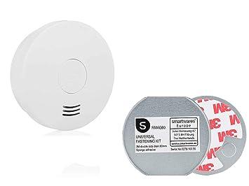 Smartwares Detector de Humo con 10jahres batería & Soporte magnético, certificación VDS, Q de