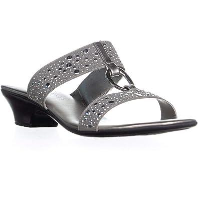 eaa9e20621e45 Amazon.com | Karen Scott Womens Eanna Sandals Embellished Kitten ...