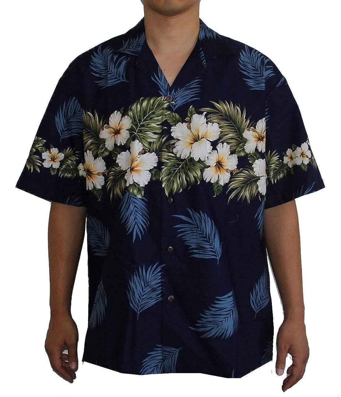 Hawaiian Mens Hibiscus Season Aloha Shirt