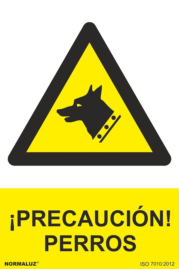Normaluz RD30943 - Señal ¡Precaución! Perros Aluminio 0,5 mm 21x30 cm