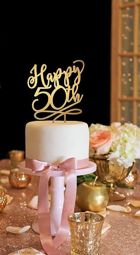 Decoración para tarta para 50º aniversario, decoración para ...