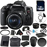 6Ave Canon EOS Rebel T6i DSLR Camera with EF-S 18-55mm f/3.5-5.6 IS STM Lens 0591C003 Value Bundle - International Version (No Warranty)