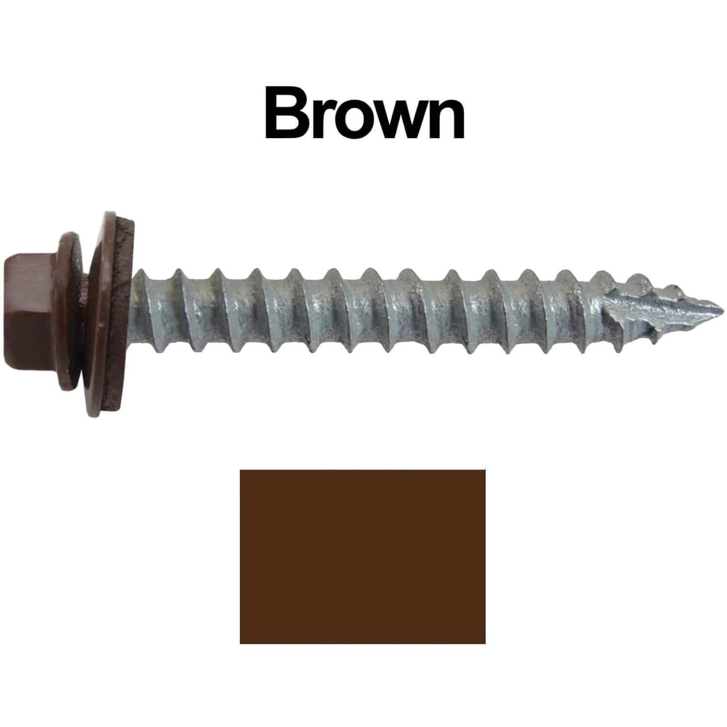 Self Starting//Tapping Metal to woodsheet Metal siding Screws with EPDM Washer #14 Metal Roofing Screws: 250 Screws x 2 Ocean Blue Hex Head Sheet Metal Roof Screw for Corrugated Roofing