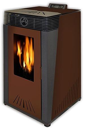 Estufa a PELLAS euroalpi blanco 13 kW, marrón: Amazon.es: Bricolaje y herramientas