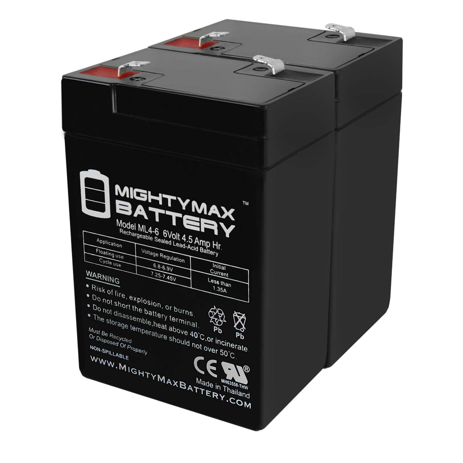 Mighty Max Battery Exit Sign Battery 6V 4.5Ah Backup - 2 Pack Brand Product