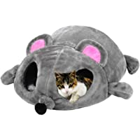 Vitscan Cat Bed Cute Funny Mouse Shaped Soft Washable Pet Cat Sleeping Bed Cave Bag House with Removable Mat
