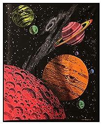 Opticz Galaxy Blacklight Reactive Tapestry