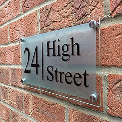 Customized personalized street address sign mult color