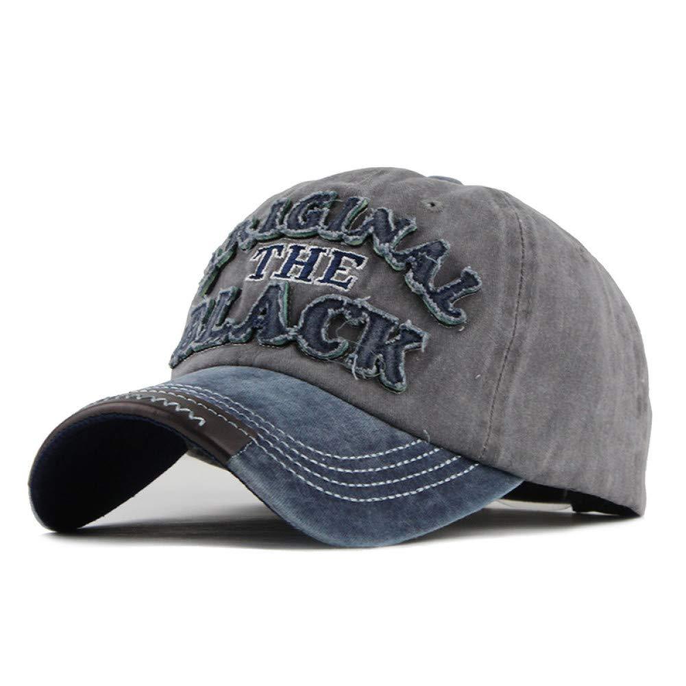 ZSOLOZ Baseball Caps Hot Retro Washed Baseball Cap Fitted Cap Snapback Hat For Men Bone Women Gorras Casual Casquette Letter Black Cap