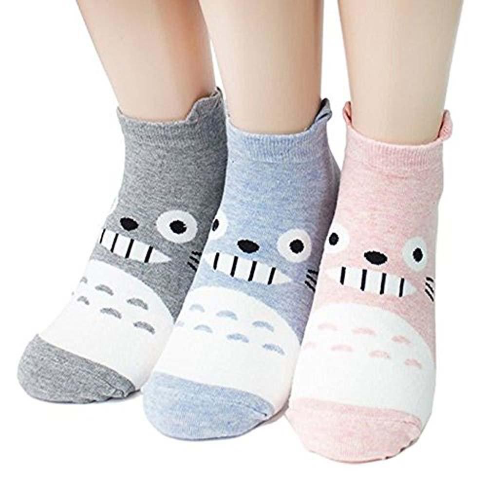Women's Short Crew Socks 3-6 Pack Ksocks, Cool Fun Crazy Cute Animation and Animal Socks Set Cat, Dog lovers, Goods for Gift Idea Secret Santa, White Elephant Exchange