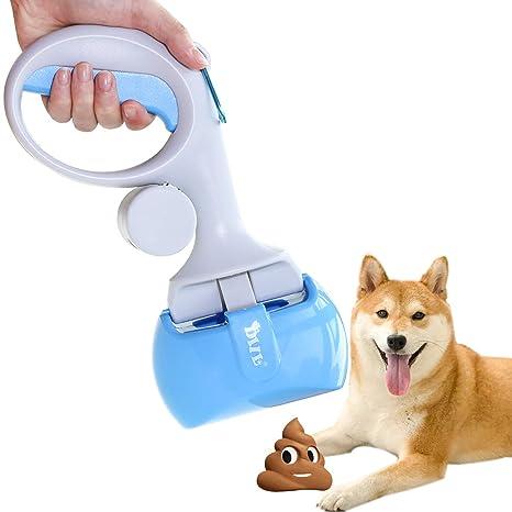 AECCN Recogedor de Excrementos para Mascota Perro Gato Recogedor de Residuos de Interior Herramientas de Limpieza al Aire Libre con Bolsas para Heces ...