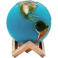 Redlemon Lámpara del Planeta Tierra 3D, Control Táctil e Intensidad Regulable, 3 Colores de LEDs, Batería Recargable de Larga Duración. Réplica Exacta de la Tierra, Ideal para Regalar, Mediana (15 cm)