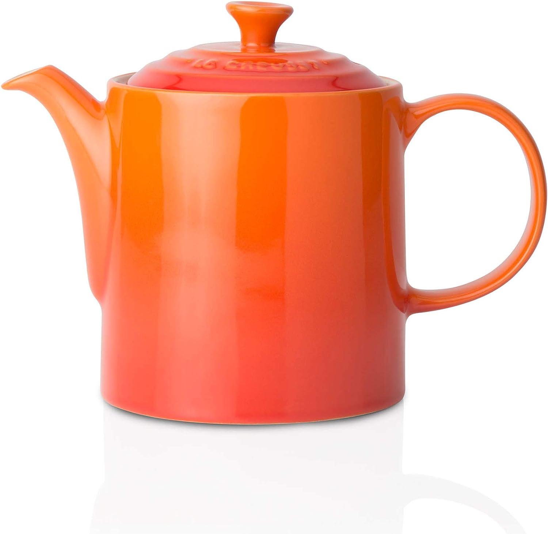 Le Creuset Stoneware Grand Teapot Volcanic Orange