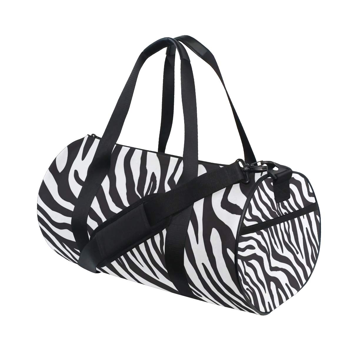 Zebra Yoga Sports Gym Duffle Bags Tote Sling Travel Bag Patterned Canvas with Pocket and Zipper For Men Women Bag