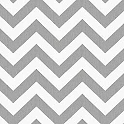Carousel Designs White and Gray Zig Zag Cradle Sheet