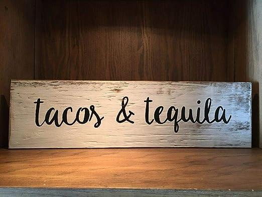 Yohoba Tacos & Tequila Cartel de Madera rústica, Barra Tiki ...