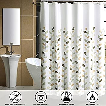 SHU UFANRO Mildew Resistant Shower Curtain Waterproof Thickened Polyester Bathroom Eco Friendly Liner
