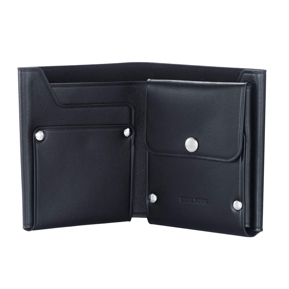 black BENXAN Genuine Leather Wallets for Men RFID Blocking Front-pocket,Nappa Leather Slim Minimalist