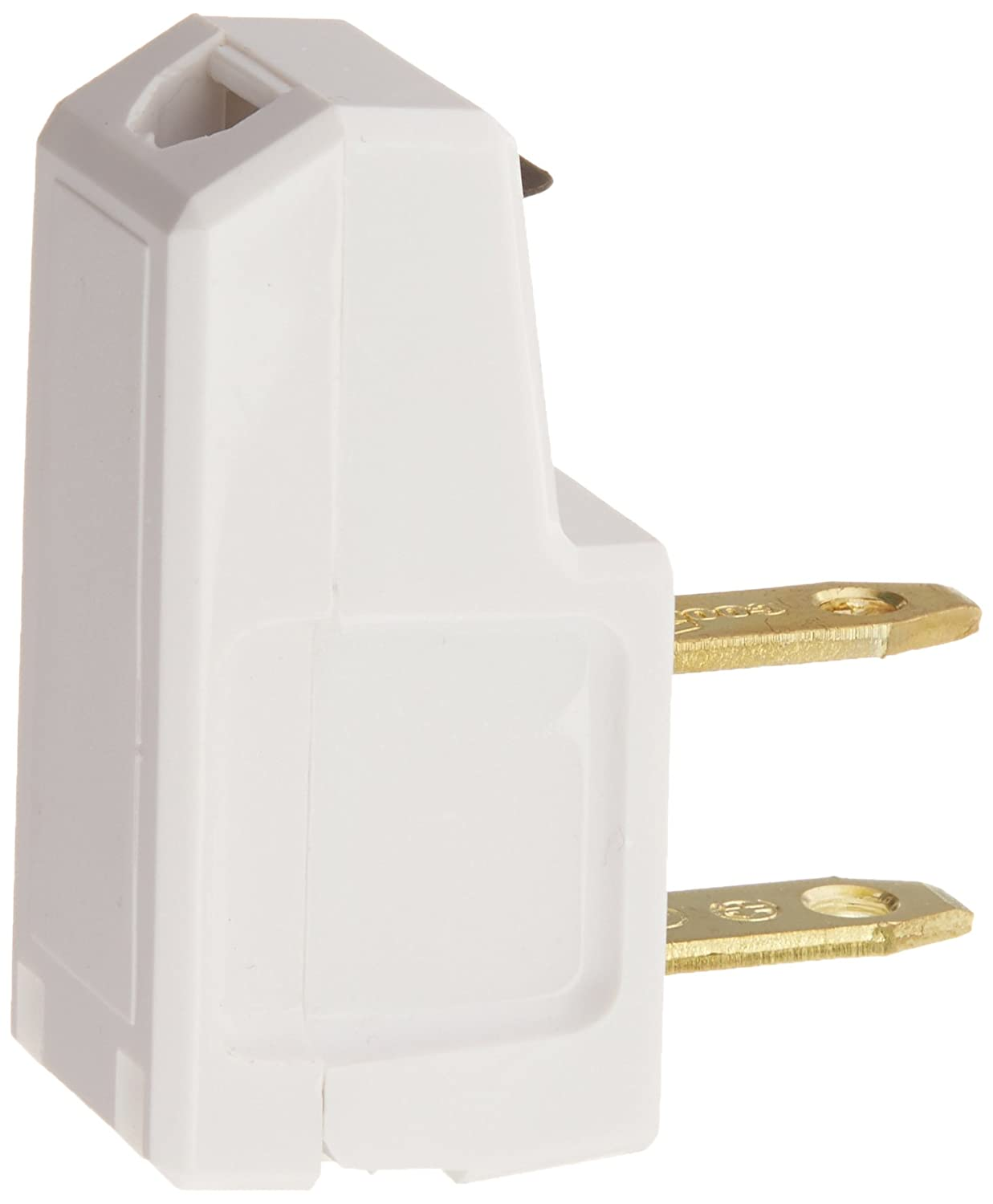 Pass Seymour 2600wbpcc10 Right Angle Quick Attach Plug 125v 15 Knife Switch Fuse Box Residential Amp White Electric Plugs