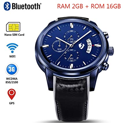 Amazon.com : GKCD Bluetooth Smart Watch, GPS WiFi SIM Card ...