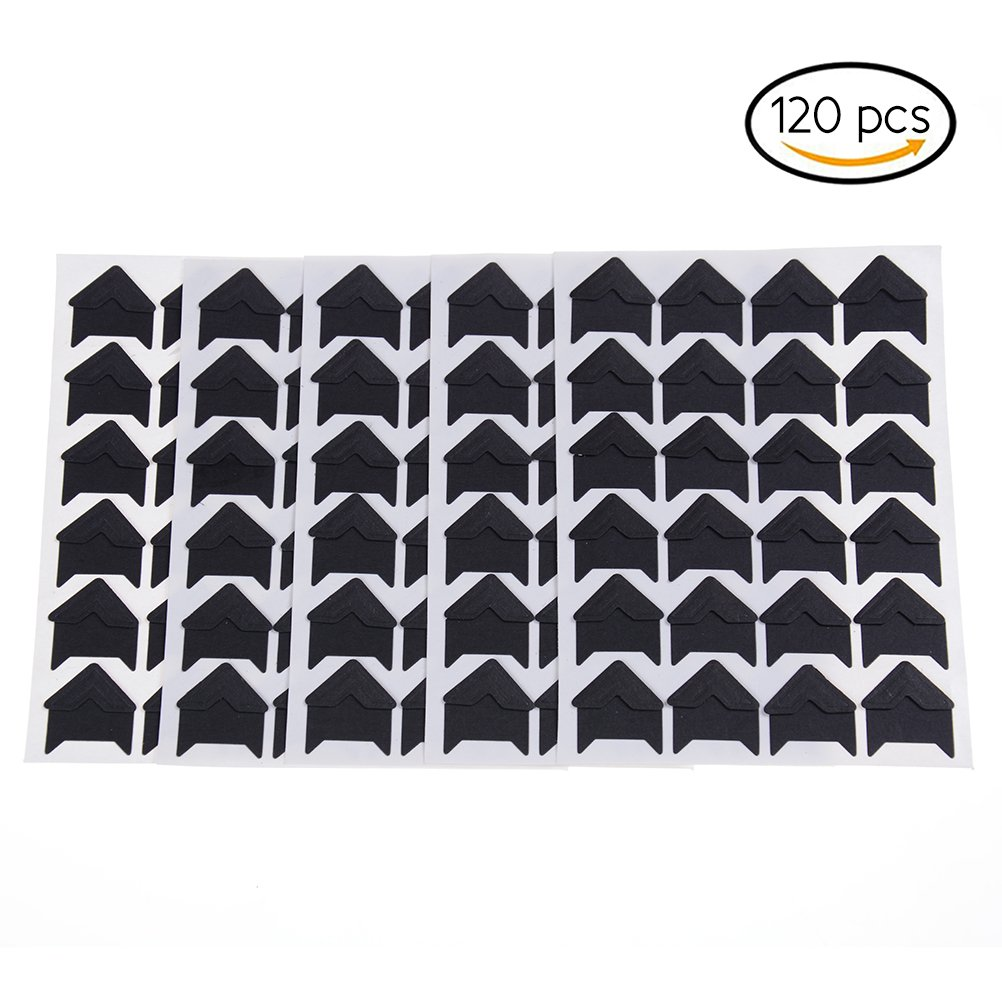 Yiphates 120pcs Self-adhesive Photo Corners Paper Photo Foto Corner Stickers for Scrapbooking , Personal Album Journal or Dairy (Black) Velishy Dream