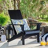 Portside Modern Adirondack Chair Made of Wood in Black Finish