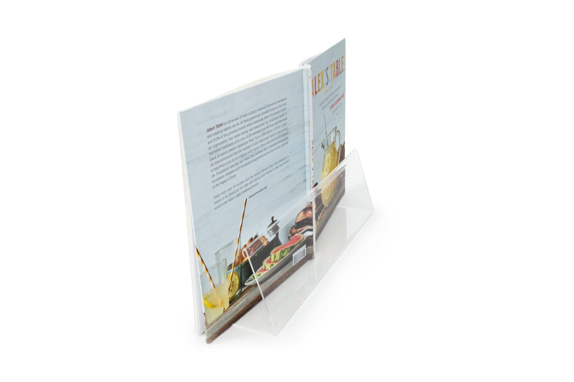 Fox Run 6680 Cook Book Helper/Holder with Splatter Shield, Acrylic by Fox Run