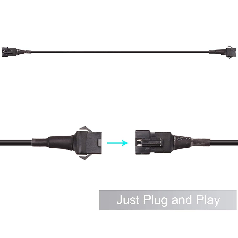 Kinstecks 6PCS Extension Cable Wire Set di cavi per LED Accent Light