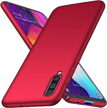 Richgle Funda Samsung Galaxy A70 / Galaxy A70S, Rojo Ultra Slim ...