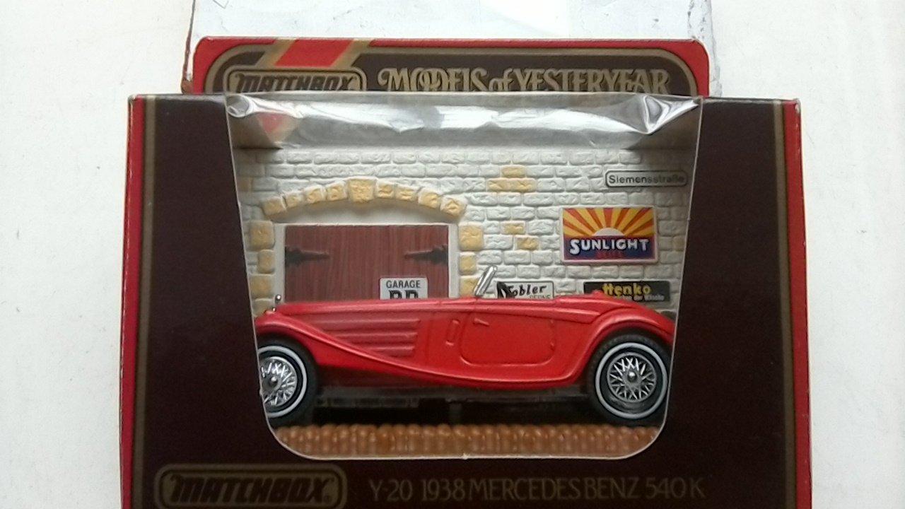 MATCHBOX Y20 Models of Yesteryear: 1:45; 1938 Mercedes Benz 540K- rot