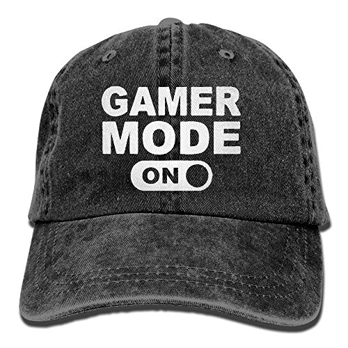 Buyiyang-01 Men s Or Women s Gamer Mode On Cotton Denim Baseball Hat  Adjustable Street Rapper 9ce4e3bd2445