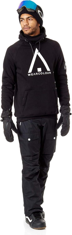 WearColour Black Bowl Snowboarding Hoody M, Black