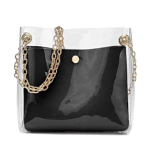 24a258307c9 Amazon.com: Clear Crossbody Bag, 2-in-1 Transparent Shoulder Bag ...