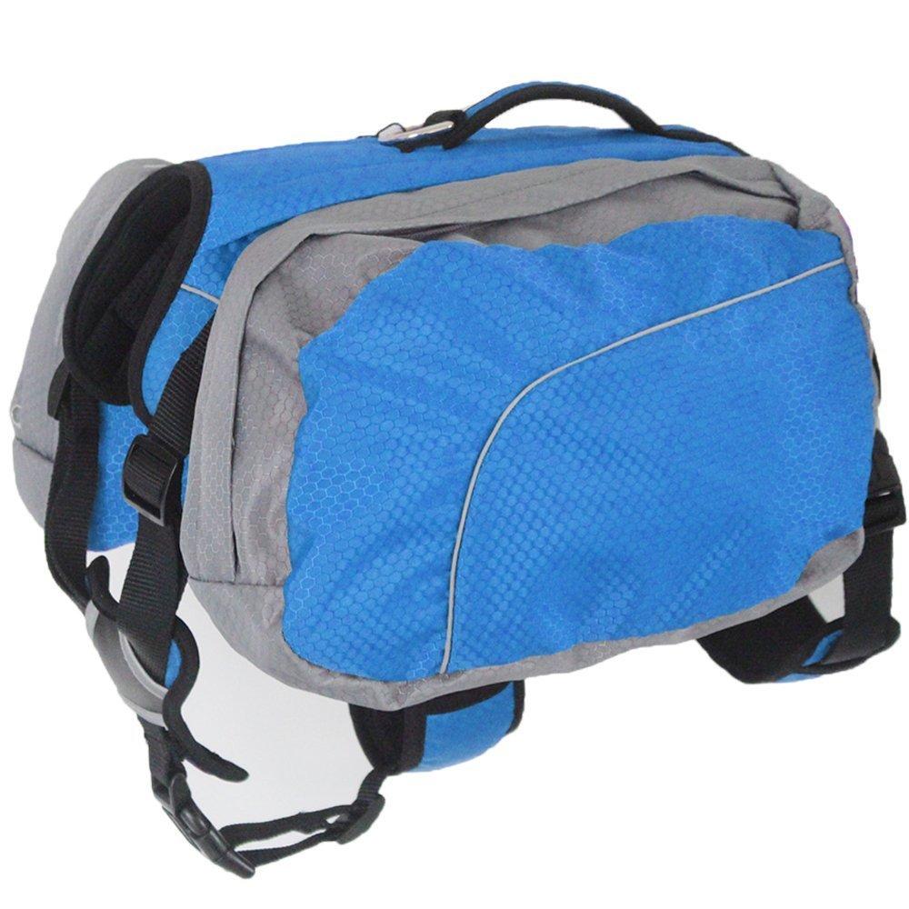 1c8062664d512f Hund Rucksack Leicht und Wasserdicht Pet verstellbar Satteltasche  Hundegeschirr Carrier mit abnehmbarer Taschen für Outdoor- ...