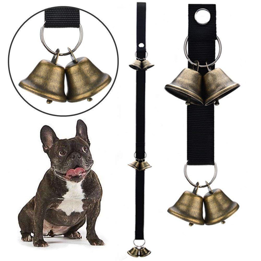 A 2PCSPet doorbell Rope, Christmas Copper Bell Guide Dog doorbell Pendant for Potty Training Dog Bells for Door Potty Bells and Housebreaking Your Doggy