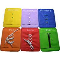 NUOLUX 6pcs Baby Learn to Dress Board Basic Skill Learning Board Toddler Dressing Enlightment Early Education Aids Children Early Teaching Props