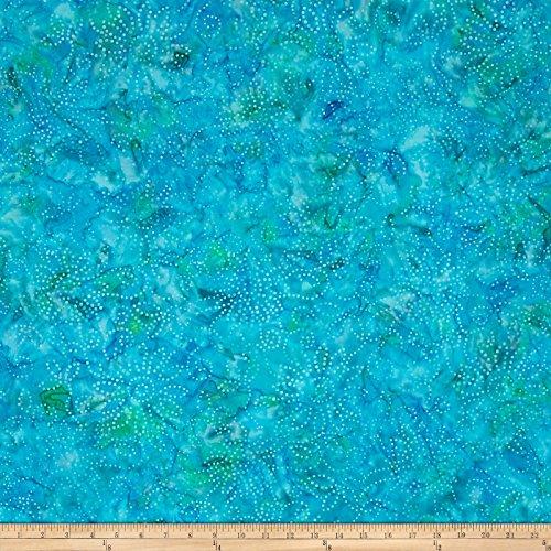 Teal Batik (Wilmington Batiks Kaleidoscope Floral Teal Fabric By The Yard)