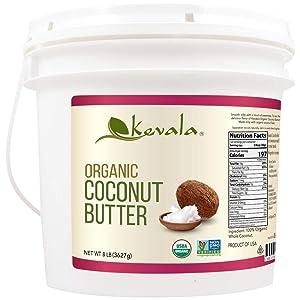 Kevala Organic Butter 8 lb , Coconut, 128 Ounce
