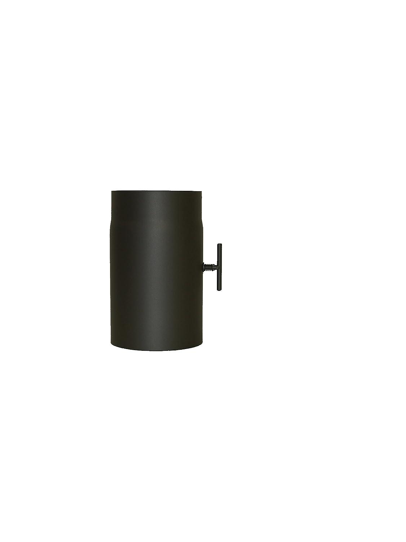 lanzzas tubo per canna fumaria camino tubo prolunga 250mm con corpo farfallato Ø 120mmgrau LANZZAS ®