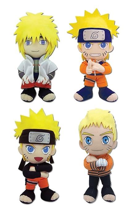 Amazon.com: GE animación Conjunto de 4 Naruto Stuffed ...