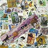 Collection de timbres Animaux Sauvages oblitérés - 100 timbres différents