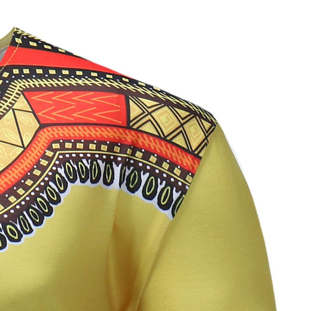 Ethnic Shirt Man Traditional Print Hippie Boho Elegant Man Shirt Slim Fit Casual Short Sleeve T-Shirt