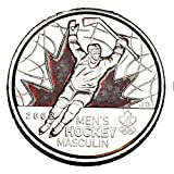 Canada 2009 25 cents Mens Hockey Coloured Engraved 2 BU Canadian Quarter